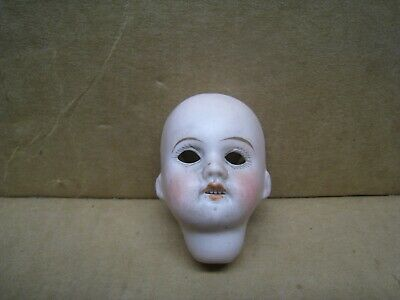 """Vintage / Antique German Bisque Doll Head 2.25"""" Tall - Marked Germany I 10/0"""
