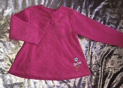 Kids Children Girls Mothercare Barbie Pink Long sleeve Top age 5-6 years