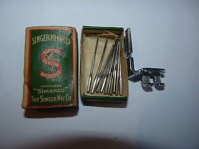 GENUINE SINGER Sewing Machine INDUSTRIAL Needles BOX  with needles and part