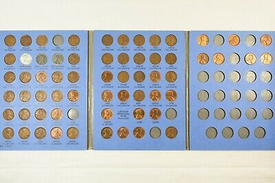 Lot of 62 Lincoln Wheat/Memorial Cents in Album - 1941-1968 - Whitman No. 9030