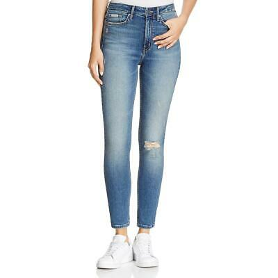 Calvin Klein Jeans Womens Blue Denim Distressed Denim Leggings 25 BHFO 2816