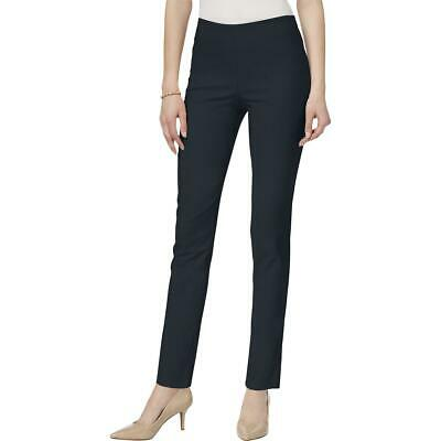 Charter Club Womens Navy High Rise Slimming Trousers Skinny Pants 18 BHFO 9201