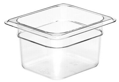 Camwear Food Pan, 1/6 size, Polycarbonate Clear Plastic, NSF, Cambro model 64CW