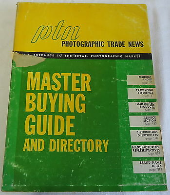 1968/1969 PHOTOGRAPHIC TRADE NEWS Master Buying Guide and Directory