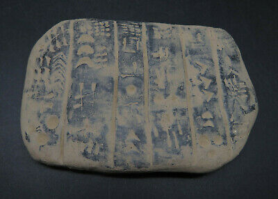 Ancient Clay Tablet Uncertain Writing / Sign Near Eastern