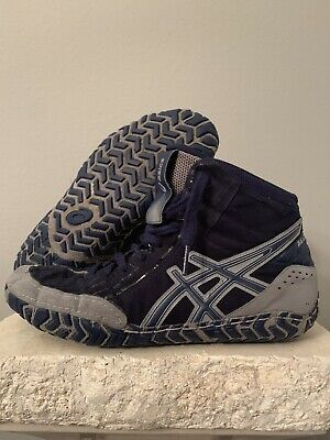 Asics Aggressor 3 Wrestling Shoes Blue/Gray Size 8