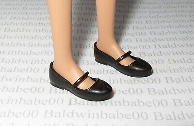 Shoes ~  Barbie Doll Flat Foot Frida Kahlo Black Mary Janes Flats Accessory