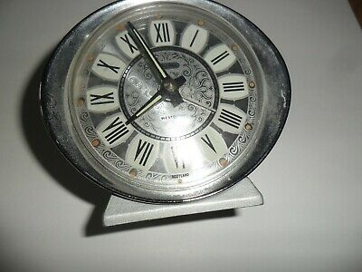 50/60s retro vintage baby ben alarm clock made by wesclox chrome made in scotla