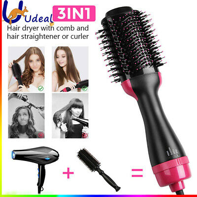 3 in 1 Pro Salon One-Step Hair Dryer and Volumizer Oval Brush Design AU