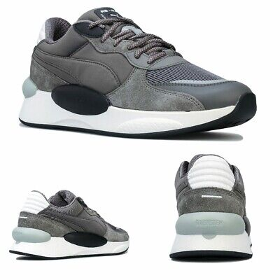 Men's Puma RS 9.8 Gravity Trainers in Grey Black