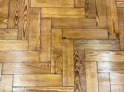 Reclaimed Victorian Pitch Pine Parquet Block Flooring  -  Warwick Reclamation