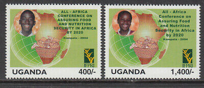 2004 Uganda Food and Nutrition Safety Children's Health Map complete set  of 2 M