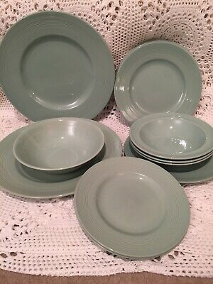 12x Items WOODS BERYL WARE GREEN Plates Dinner Side Tea Bowls Lot