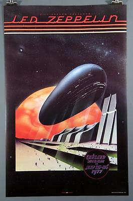 Led Zeppelin, Oakland Stadium Poster, Robert Plant, Jimmy Page,  22 x 34 ''. NEW