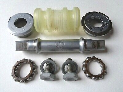 NEW NOS VINTAGE CAMPAGNOLO VELOCE BOTTOM BRACKET 115.5mm 36x24f ITA,alloy cups