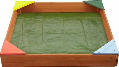 Chad Valley Wooden Sandpit: Cover and Groundsheet, FSC Timber