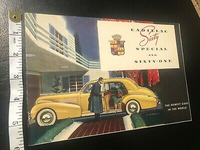 1938 Cadillac Sixty Special And Sixty-One Brochure.