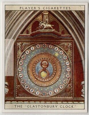 c1392 Glastonbury Turret Clock Wells Cathedral 1920s Ad Trade Card