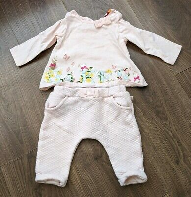 TED BAKER baby Girls 3-6 Months Outfit Long Sleeve Top & Trousers Pink