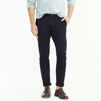 J Crew Mens Navy 484 Slim-fit pant in stretch chino Pants Size 34X32 $79
