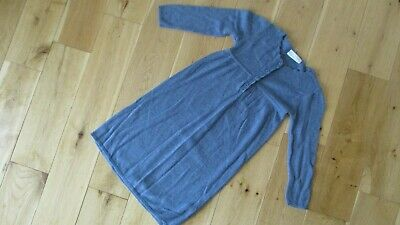 THE LITTLE WHITE COMPANY Girls Blue Wool Mix Knitted Long Sleeve age 4 - 5 yrs