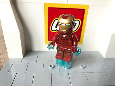 Lego Marvel Iron Man Triangle On Chest Super Heroes Mini Figure Sh015 Set 6867