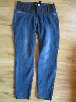 Next Maternity Blue Under Bump Skinny Leg Jeans Size 10 Short
