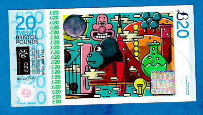 Bristol City Pound - Issued Note £20 2nd Issue 2015 GRM UNC - RARE