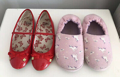 TU Girls Red Shoes/ Pink Unicorn Slippers Size 13