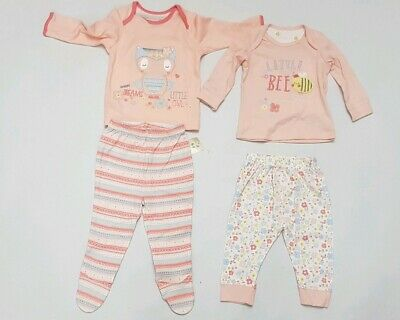 Baby girls mothercare And George 2 Pyjamas Set 3-6/ 6-9