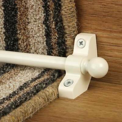 Cream / White 76cm long Hollow Cheap High Quality Stair Rod - pack of 3