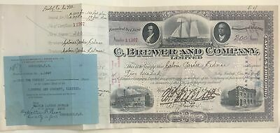 1928 C. Brewer And Company Hawaii Stock Certificate RARE
