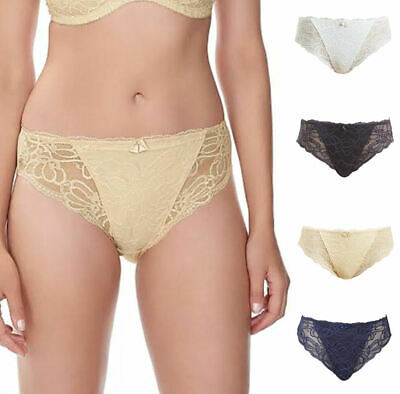 Fantasie Aimee Mid Rise Brief 3035 Knickers Semi Sheer Stretch Lace Beige