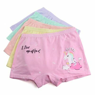 5 Pack Girls Boxer Shorts Briefs Pants Knickers Underwear Unicorn Age 4-12 Years