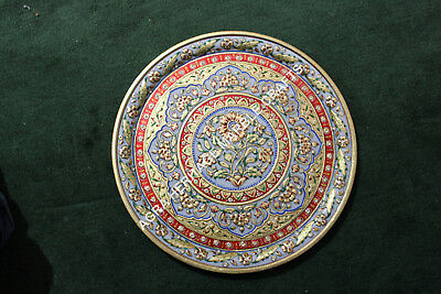 Large 1:12 #WK1811 Mexican Decorative Dining ONE Folk Art Painted Wooden Plate