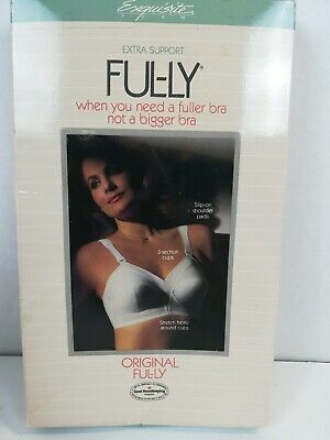 Exquisite Form 532 Original Fully Wire Free Bra 40D White NEW Without Tags
