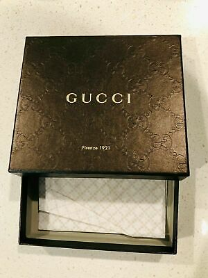 Gucci Men's Wallet Empty Brown Box BRAND NEW FREE SHIPPING