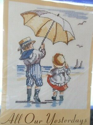 """Cross stitch Kit All Our Yesterdays """"A Windy Day"""" New by DMC"""