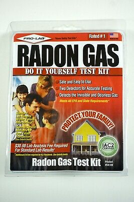 PRO-LAB Radon Gas Do It Yoursef Test Kit - Product # RA100 - Made in USA