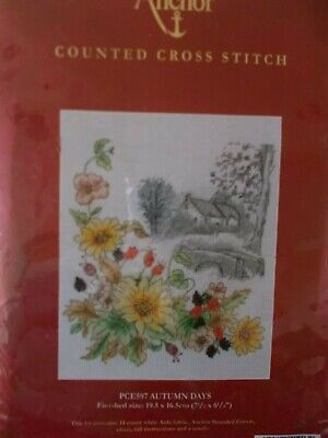 """Cross stitch Kit """" Autumn Days """" New by Anchor"""