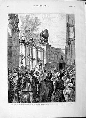 Old Antique Print 1877 War East Russian Embassy Constantinople Fine Art 19th