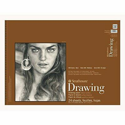 8 x 10 Strathmore 400300 80 lb 24-Sheets Medium Wire Bound Drawing Paper Pad