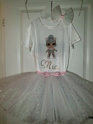 Personalised Birthday Outfit 3 pcs LOL surprise dolls disco baby outfit Sparkly