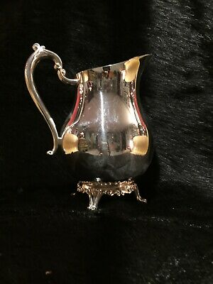 Antique 1883 F B Rogers Silver Co. Plated Footed Lipped Water Pitcher