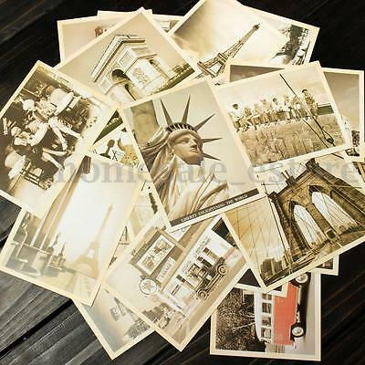 32pcs Box Set Vintage Landscape Travel Postcard Photo Picture Poster Post   m