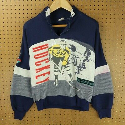 vtg NIKE usa sweatshirt MEDIUM tag ICE HOCKEY 90's distressed color block boxy
