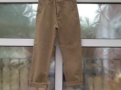 Next Age 9 Height 134cm Boys Beige Chinos Worn Once Slight Imperfection