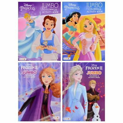 Disney PRINCESS Coloring and Activity Books LOT of 4, for Children, Girls