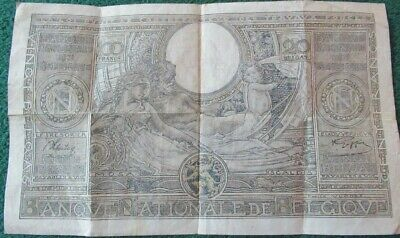 1943 Belgium 100 Francs Banknote - Conditions as in photos COLLECTABLE