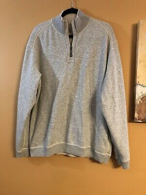 Tommy Bahama Mens Flip Side Pro 1//2 Zip Reversible Sweater Green TALL XLT NWT